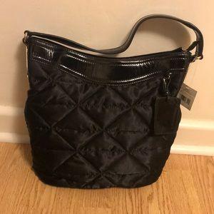 Liz Claiborne quilted black handbag